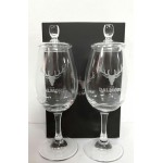 Dalmore glasses with glas lid (2x)