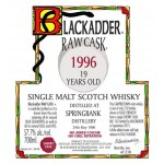 Blackadder Raw Cask Statement Springbank 19yo 1996 (57,7%)